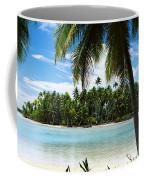Palm Trees On The Beach, Rangiroa Coffee Mug