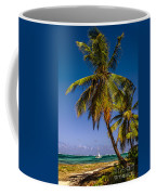 Palm Trees On The Beach Coffee Mug