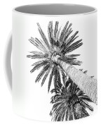 Palm Tree White Coffee Mug