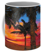 Palme Al Tramonto Coffee Mug by Guido Borelli