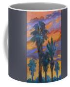 Palms And Sunset Coffee Mug