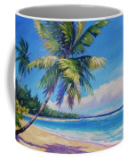 Palms On Tortola Coffee Mug by John Clark