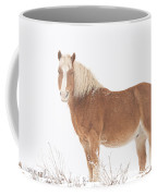 Palomino Horse In The Snow Coffee Mug