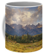 Panaroma Clearing Storm On A Fall Morning In Grand Tetons National Park Coffee Mug