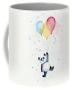 Panda Floating With Balloons Coffee Mug