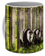 Pandas In A Bamboo Forest Coffee Mug
