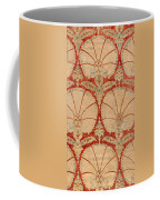 Panel Of Red Cut Velvet With Carnation Coffee Mug