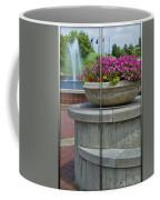 Sample Paneled Concrete Flower Pot Coffee Mug