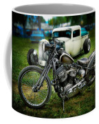 Panhead Harley And Ford Pickup Coffee Mug