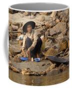 Panning For Gold Mekong River 1 Coffee Mug