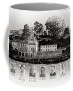 Panorama Alcatraz Infamous Inmates Black And White Coffee Mug