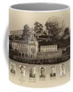 Panorama Alcatraz Infamous Inmates Sepia Coffee Mug