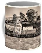 Panorama Alcatraz Shaky Sepia Coffee Mug