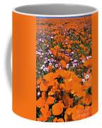 Panorama Califonria Poppies And Hollyleaf Gilia Wildflowers Coffee Mug