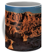 Panorama Of Hoodoos At Sunset Goblin Valley State Park Utah Coffee Mug