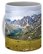Panorama Of Rocky Mountains In Jasper National Park Coffee Mug
