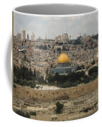 Panorama Of The Temple Mount Including Al-aqsa Mosque And Dome Coffee Mug
