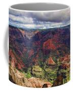 Panorama Of Waimea Canyon Hawaii Coffee Mug by David Smith