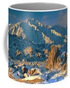 Panorama Snow Covers The Alabama Hills Coffee Mug