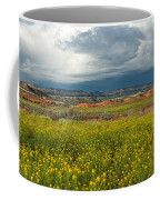 Panorama Striaght Cliffs And Rabbitbrush Escalante Grand Staircase  Coffee Mug