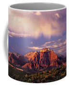 Panorama West Temple At Sunset Zion Natonal Park Coffee Mug