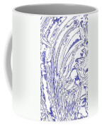 Panoramic Grunge Etching Royal Blue Color Coffee Mug