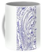 Panoramic Grunge Etching Royal Blue Color Coffee Mug