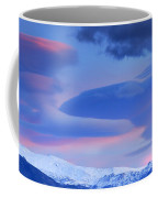Panoramic Lenticular Clouds Over Sierra Nevada National Park Coffee Mug