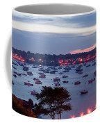 Panoramic Of The Marblehead Illumination Coffee Mug by Jeff Folger