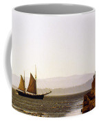 Panoramic Puget Sound Schooner 2 Washington Coffee Mug