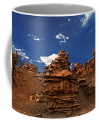 Panoramic Sunset Light On Sandstone Formations Fantasy Canyon  Coffee Mug