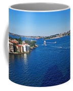 Panoramic Sydney Harbour Coffee Mug by Kaye Menner