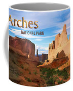 Panoramic View Of Arches National Park  Coffee Mug