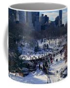 Panoramic View Of Ice Skating Wollman Coffee Mug