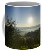 Panoramic View Over The Foggy Field Coffee Mug