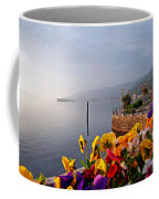 Pansies On Lake Maggiore Coffee Mug