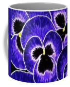 Pansy Expressive Brushstrokes Coffee Mug