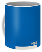 Pantone 285 Clear Sky Blue Color On Worn Canvas Coffee Mug