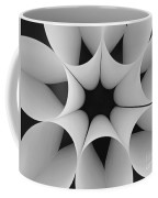 Paper Flower Black And White Coffee Mug