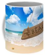 Paradise Beach Sign Algarve Portugal Coffee Mug