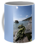 Binigaus Beach In South Coast Of Minorca Island Europe - Paradise Is Not Far Away Coffee Mug