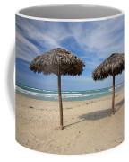 Parasols On Varadero Beach Coffee Mug