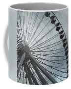 Paris Blue Ferris Wheel Coffee Mug