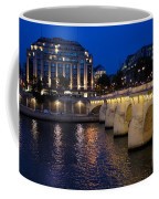 Paris Blue Hour - Pont Neuf Bridge And La Samaritaine Coffee Mug