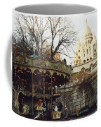 Paris Carousel Merry Go Round Montmartre - Carousel At Sacre Coeur Cathedral  Coffee Mug