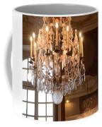 Paris Crystal Chandelier - Paris Rodin Museum Chandelier - Sparkling Crystal Chandelier Reflection Coffee Mug