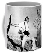 Paris Hilton With The Falling Soldier Coffee Mug