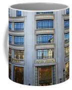 Paris Louis Vuitton Fashion Boutique - Louis Vuitton Designer Storefront In Paris Coffee Mug