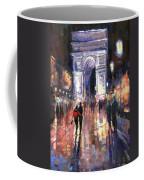 Paris Miting Point Arc De Triomphie Coffee Mug