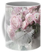 Paris Pink Impressionistic French Roses And Ranunculus - Shabby Chic Romantic Pink Flowers Coffee Mug